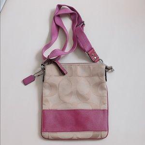 Pink Coach Cross Bag